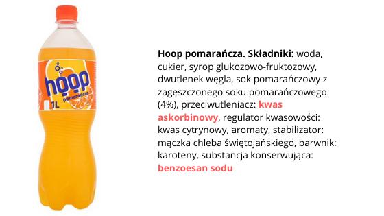 napój pomarańczowy skład