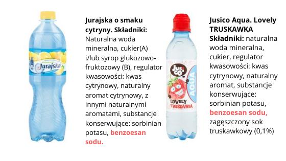 wody z benzoesanem