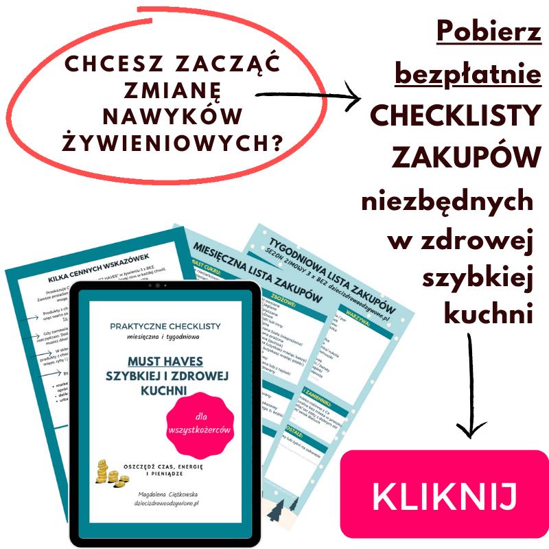 checklisty zakupów