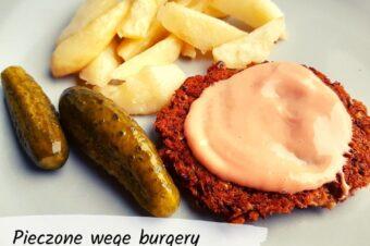 Pieczone wege burgery