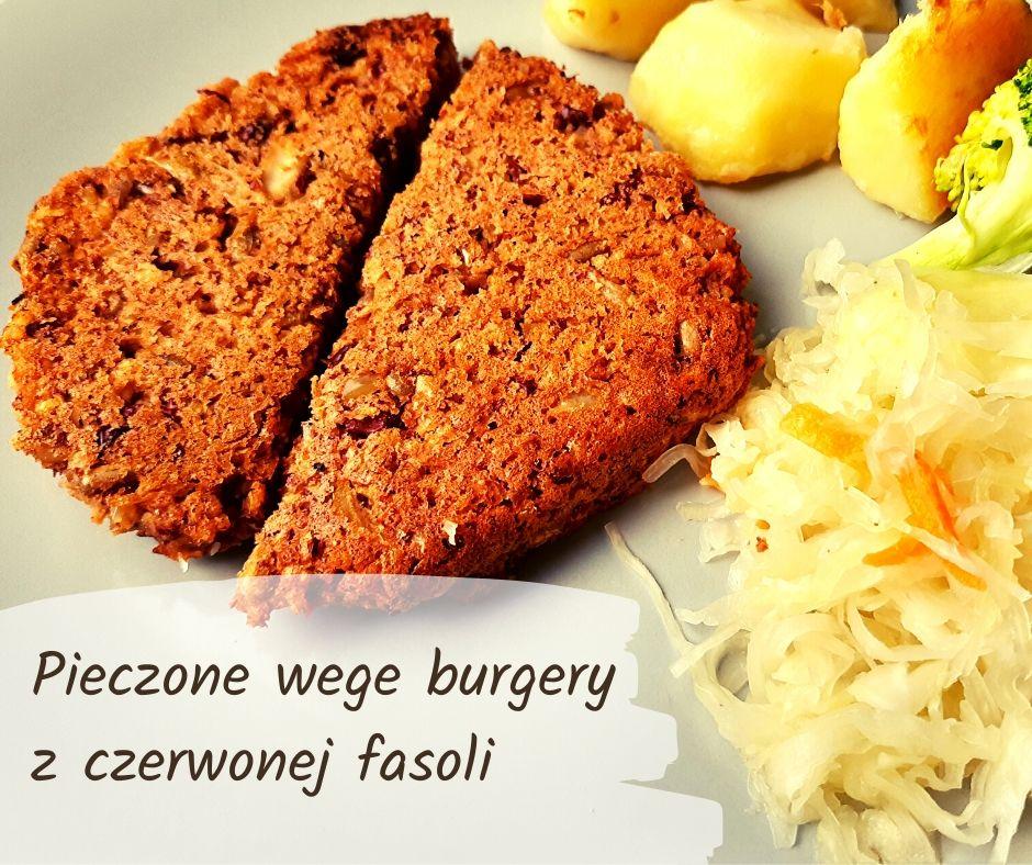 pieczone wege burgery z czerwonej fasoli