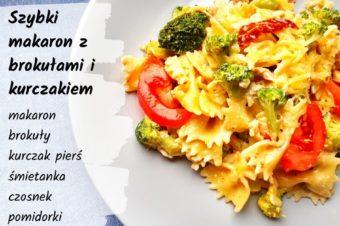 Szybki makaron z brokułami i kurczakiem