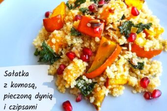 Sałatka z komosą i pieczonymi warzywami