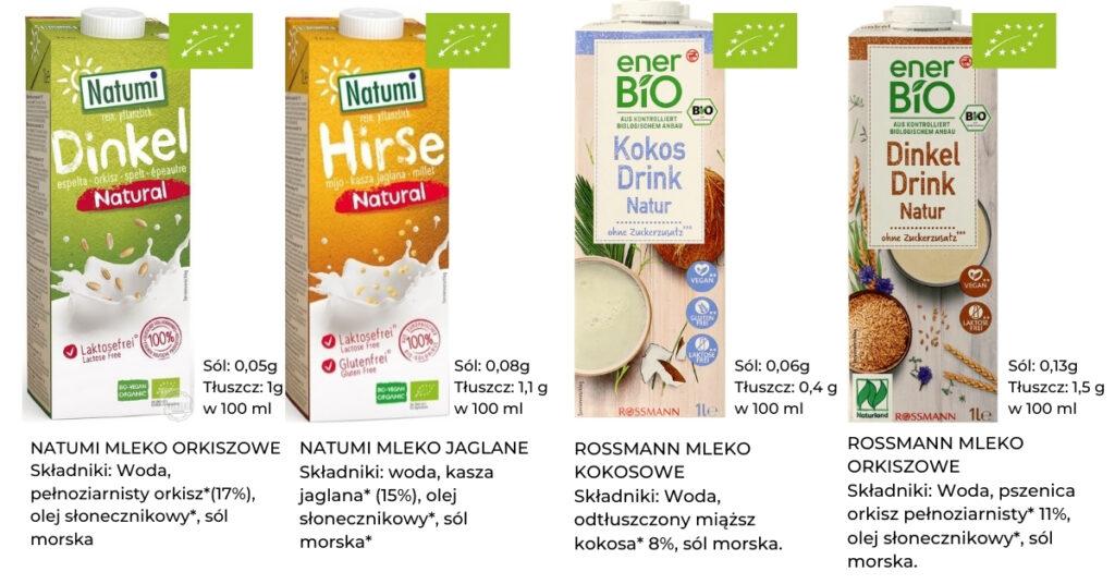 mleko roślinne dla niemowlaka bez wapnia