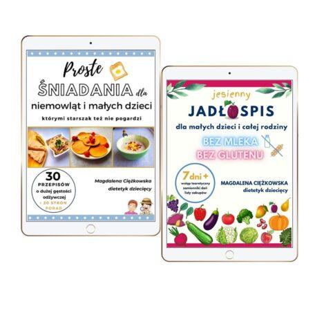 Pakiet dwóch ebooków Proste śniadania niemowląt i małych dzieci + Jesienny jadłospis dla małych dzieci i całej rodziny