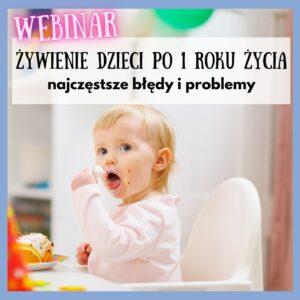webinar błędy w żywieniu małych dzieci
