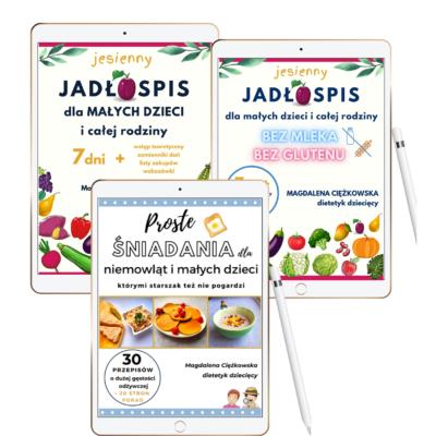 przepisy dla dzieci i niemowląt - zestaw trzech ebooków