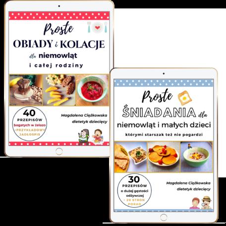 Pakiet dwóch ebooków - proste śniadania i proste obiady i kolacje