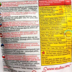 żelki masa cukru słodycze z dobrym składem